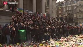 Video «Rechtsextreme stören Trauernde in Brüssel» abspielen