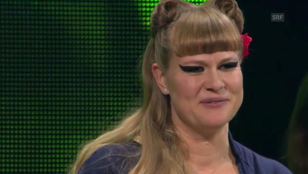 Video «Nicole Bernegger weint vor Freude über ihren Sieg» abspielen