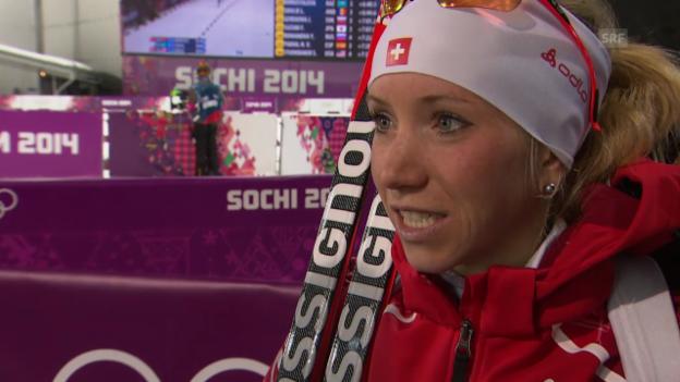 Video «Biathlon: 15 km Frauen, Interview mit Elisa Gasparin (sotschi direkt, 14.02.2014)» abspielen