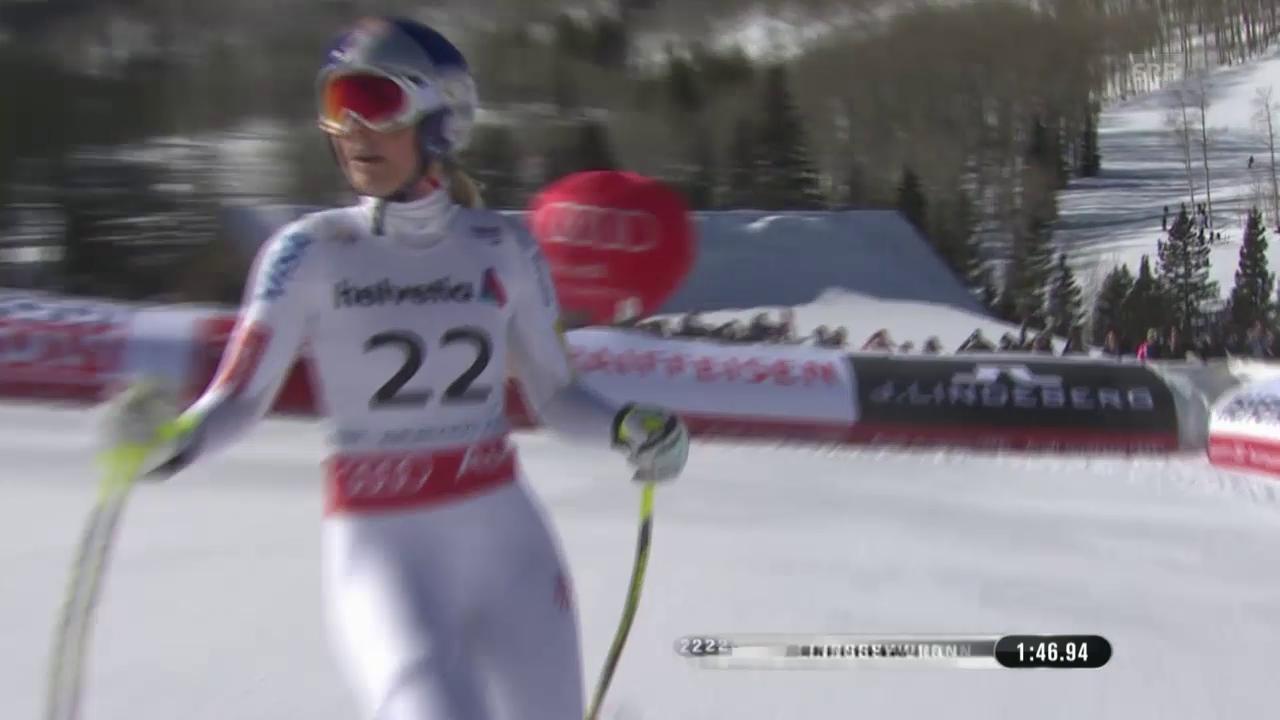 Ski: WM, Abfahrt Frauen, Fahrt Vonn