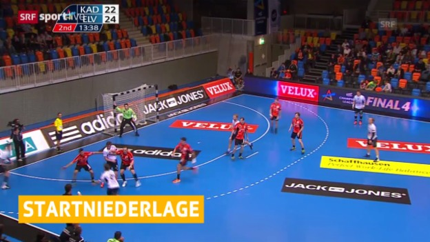 Video «Handball: Champions League, Kadetten - Elverum» abspielen