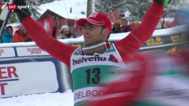 Video «Ski alpin: Weltcup der Männer, Slalom in Adelboden» abspielen