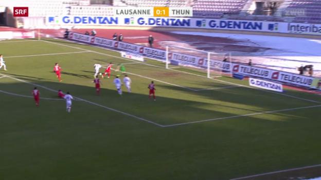Video «Fussball: Super League, Lausanne - Thun» abspielen