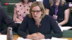 Video «Britische Innenministerin Rudd räumt Sessel» abspielen