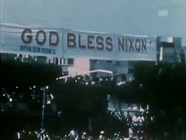 Video «Nixons Amtszeit im Jahresrückblick der «Tagesschau» vom 30.12.1974» abspielen