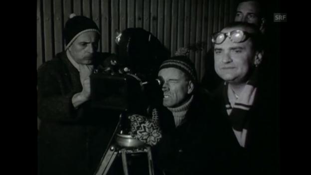 Video «Dreharbeiten von «Es Dach überem Chopf»» abspielen