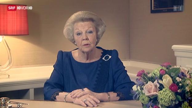 Video «Königin Beatrix dankt ab» abspielen