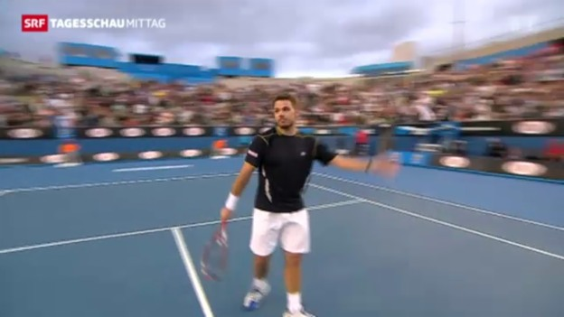Video «Wawrinka siegt in Melbourne» abspielen