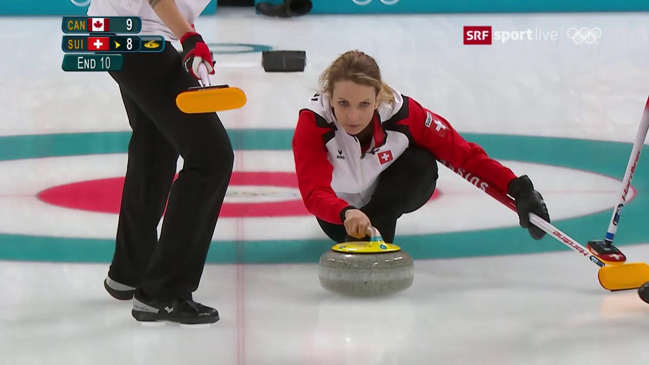 Der Fehlstein der Schweizer Curlerinnen im letzten End
