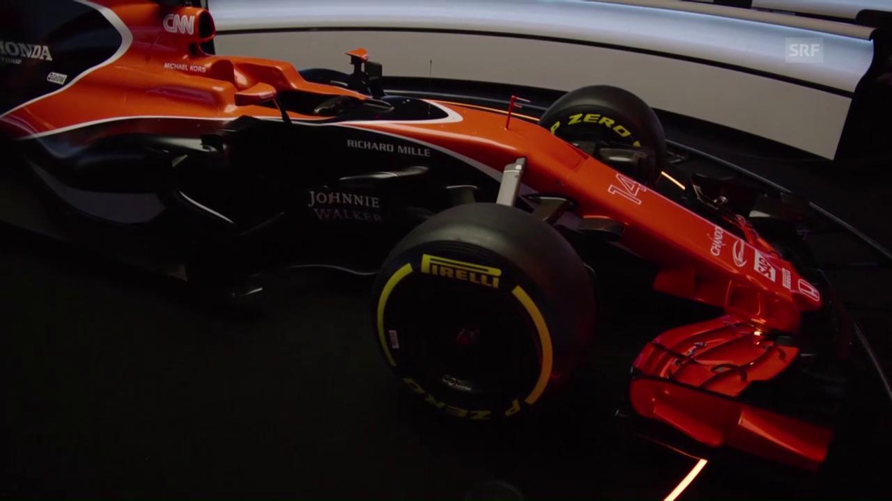Impressionen vom neuen McLaren (SNTV)
