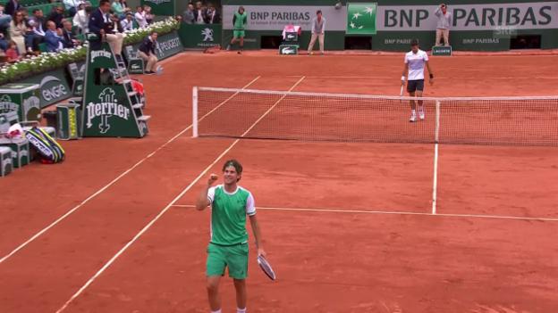 Video «Die besten Punkte bei Djokovic - Thiem» abspielen