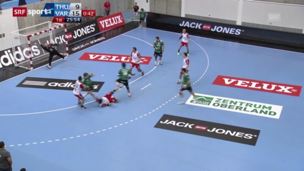 Video «Handball: Wacker Thun - Vardar Skopje» abspielen