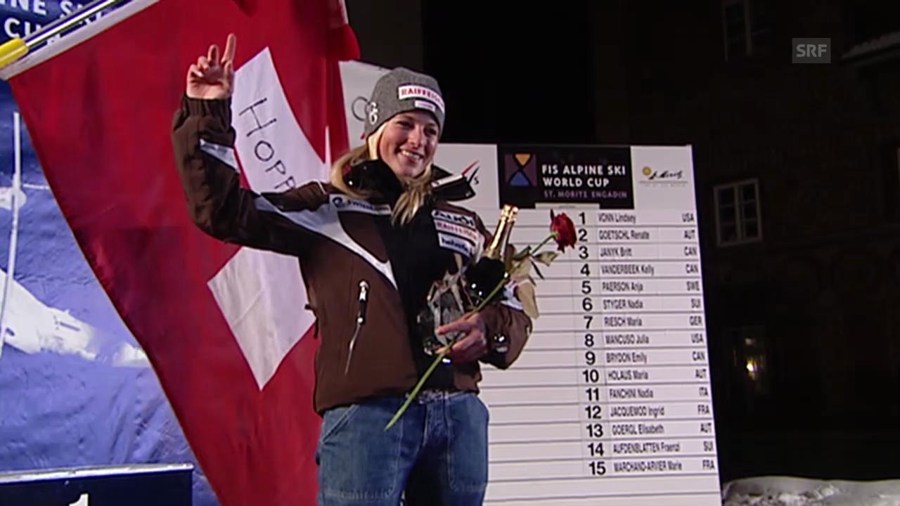 Die Erfolge von Lara Gut in St. Moritz
