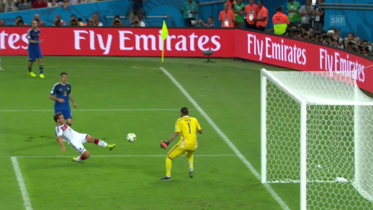 Mario Götzes Tor zum 4. WM-Titel für Deutschland
