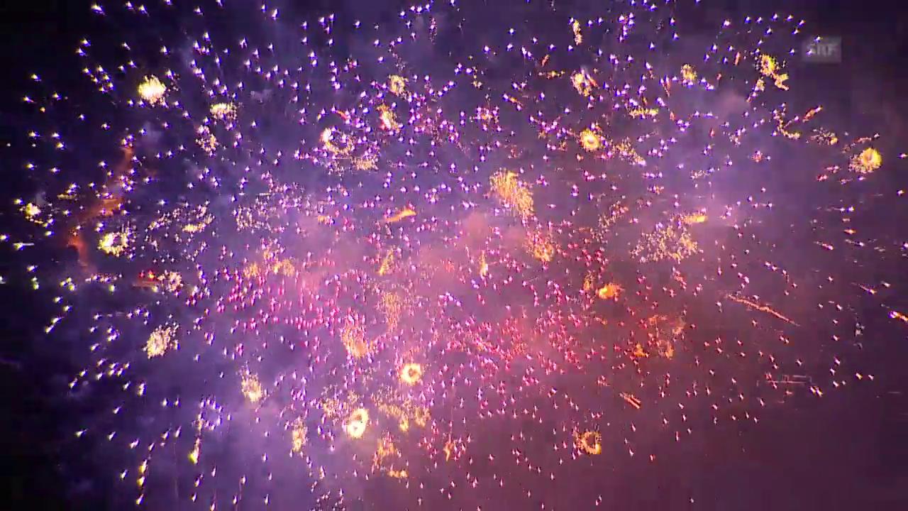 Neujahrsfeuerwerk in Zürich