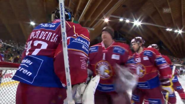 Video «Eishockey: Davos-Genf, Szenen mit Janick Schwendener» abspielen