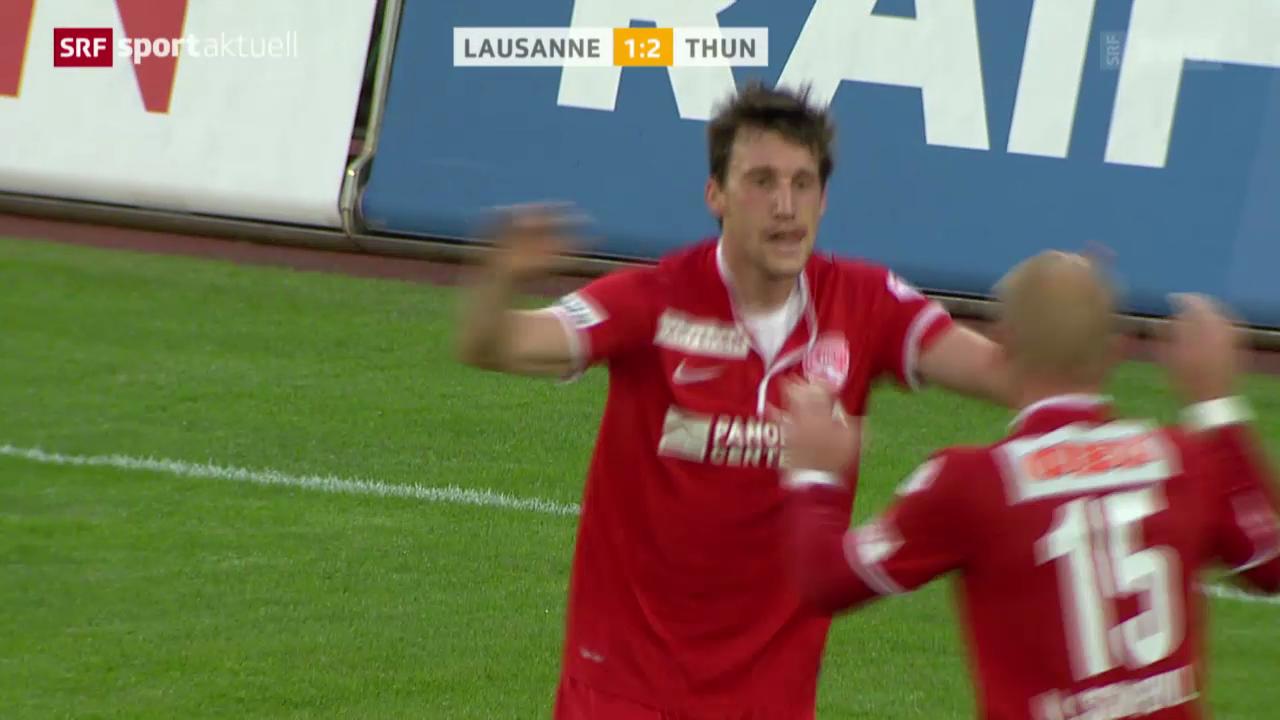 Fussball: Super League, Lausanne-Thun