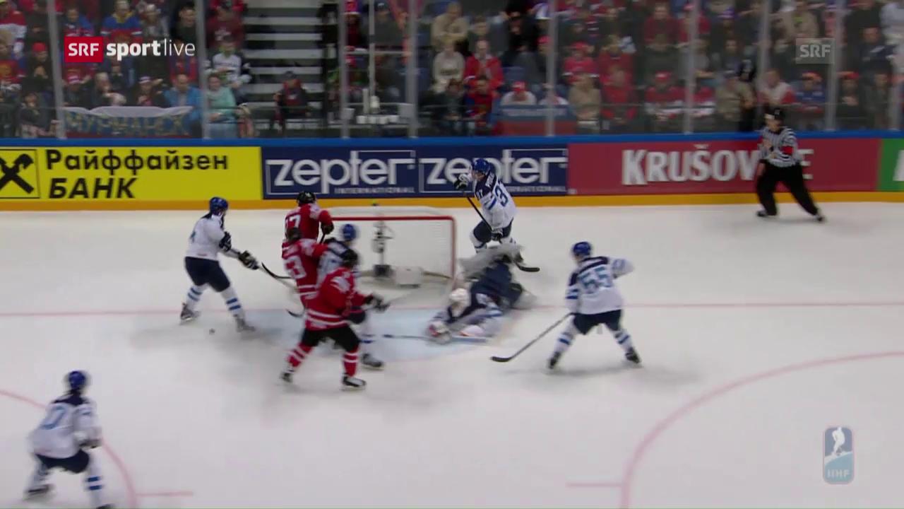 Das 1:0 von Kanada durch McDavid im WM-Final gegen Finnland