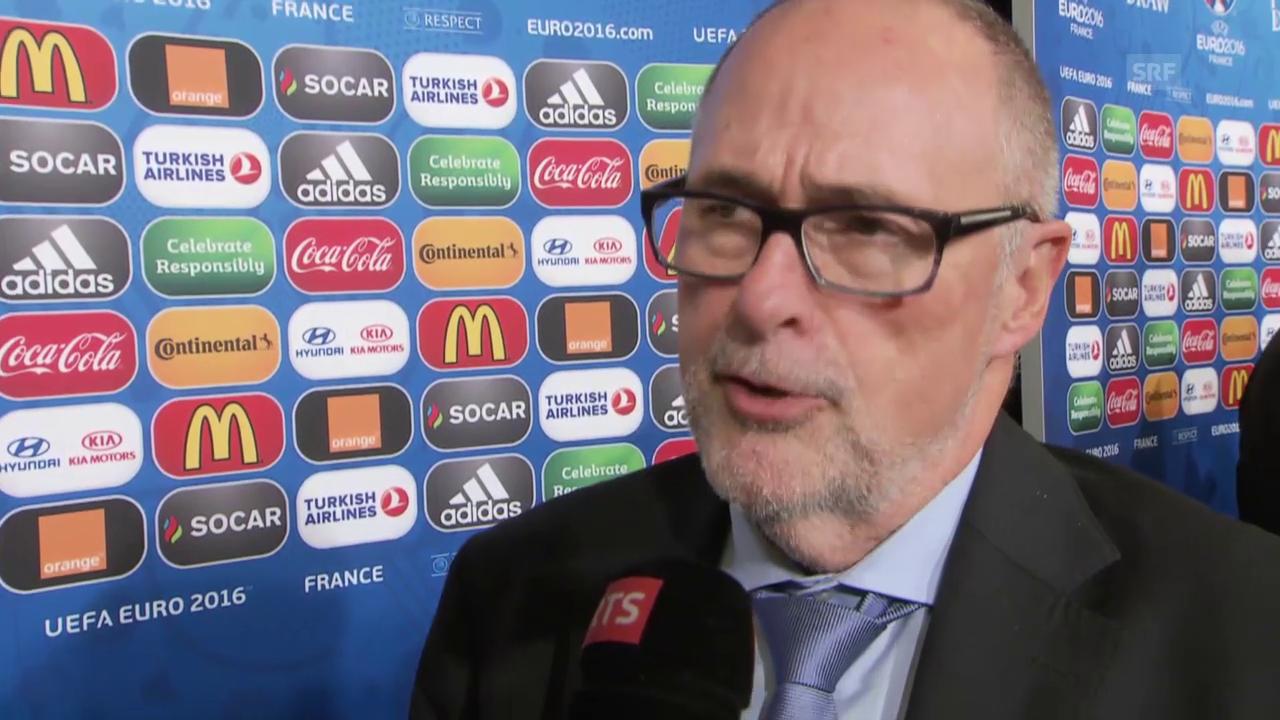 Fussball: EURO 2016, Auslosung, Interview Peter Gilliéron