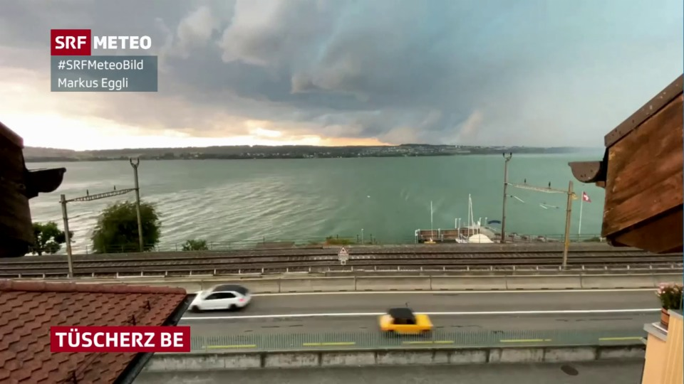 Aufzug eines Gewitters am Bielersee. #SRFMeteoVideo M. Eggli.