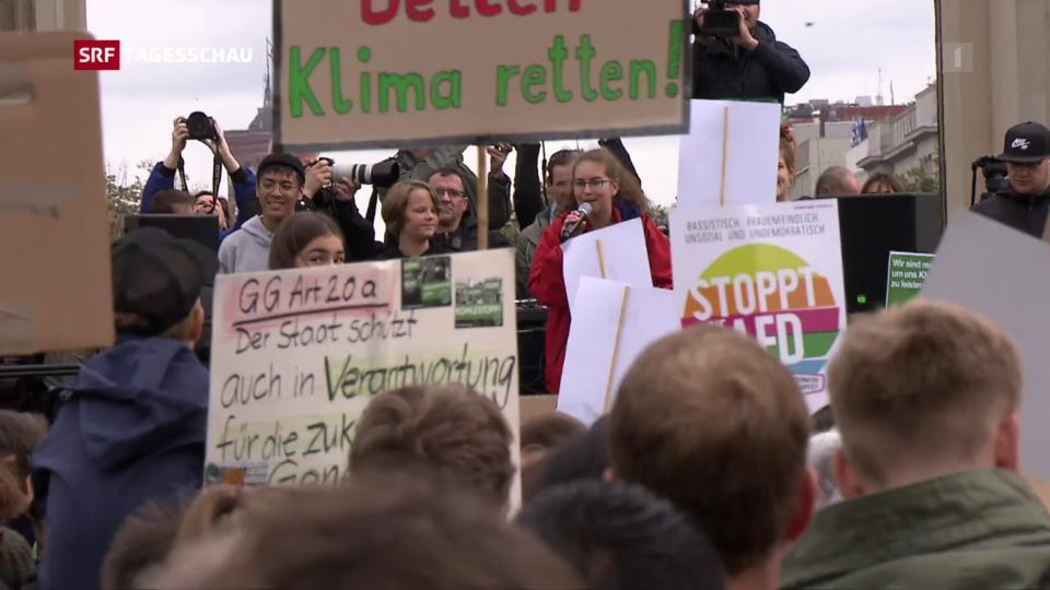 Archiv: Weltweite Klimademos und ein Massnahmenpaket aus Deutschland