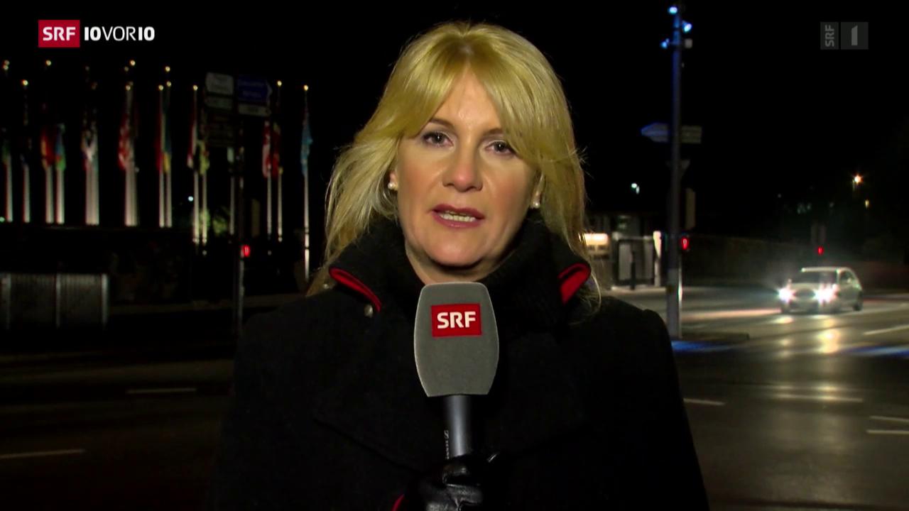 SRF-Korrespondentin Alexandra Gubser zur Lage in Genf