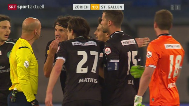 Video «Fussball: Super League, Zürich - St.Gallen» abspielen