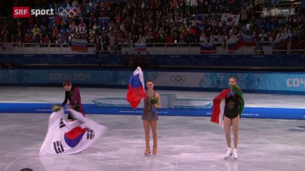 Video «Eiskunstlauf: Kür der Frauen» abspielen
