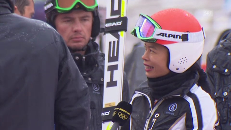 Vanessa Mae und ihre Karriere als Skifahrerin