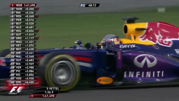 Video «Sebastian Vettel im freien Training» abspielen