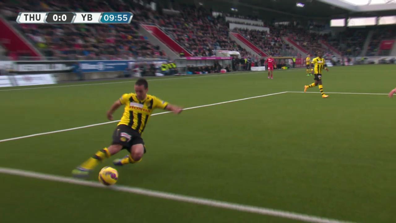 Fussball: Super League, Thun - YB aberkanntes Tor Hoarau