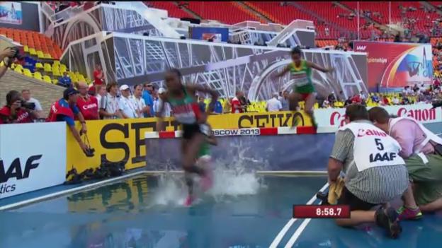Video «Vorlauf 3000 m Steeple (unkommentiert)» abspielen