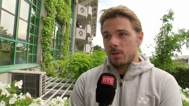 Video «Wawrinka nach Sieg: «Die Partie war ein mentaler Kampf» (franz.)» abspielen