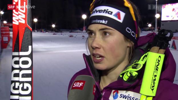 Video «Langlauf: Tour de Ski, 1. Etappe Interview Van der Graaff» abspielen