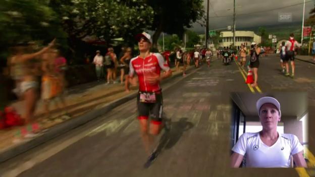 Video «Warum Daniela Ryf den Ironman mit einem Schoggicake vergleicht» abspielen