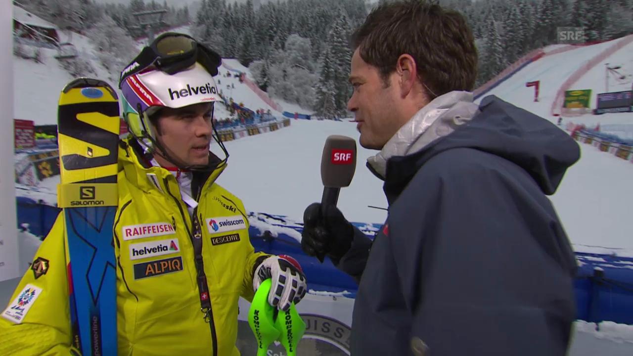 Ski: Weltcup, Super-Kombination, Interview mit Viletta