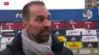 Video «Fussball: Super League, Luzern - Aarau, Reaktionen zum Spiel» abspielen