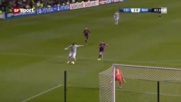 Video «CL: Highlights Celtic - Barcelona («sportlive»)» abspielen