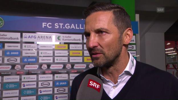 Video «FCSG-Coach Zinnbauer: «Das erleichtert die Planung»» abspielen