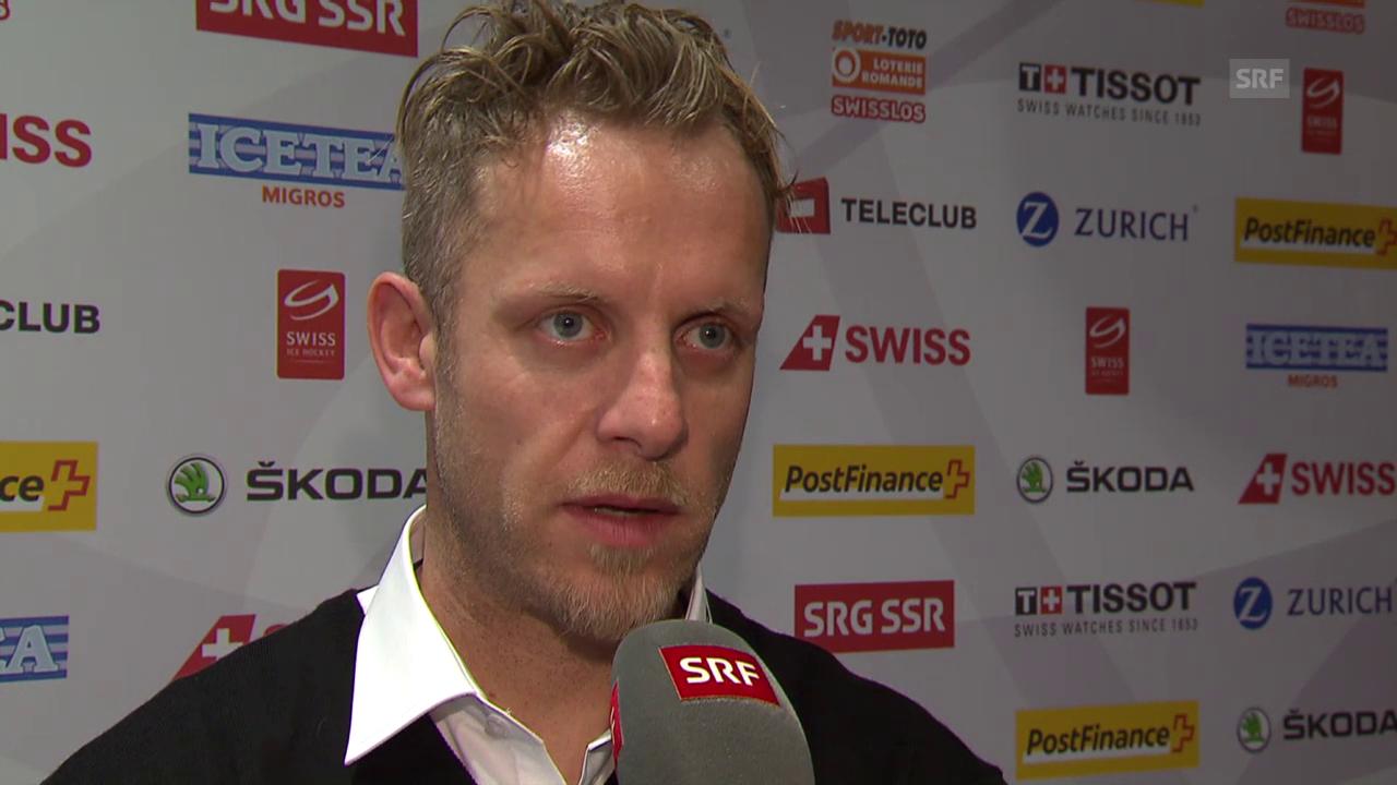 Eishockey: Medienkonferenz Nationalmannschaft, Interview Reto von Arx