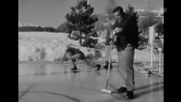 Video ««Lino Ventura beim Curling», Tagesschau, 8.2.1967» abspielen
