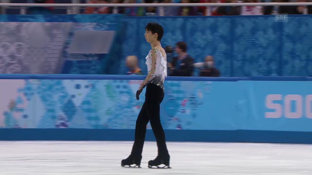 Eiskunstlauf, Männer: Kür von Yuzuru Hanyu (sotschi direkt, 14.2.2014)