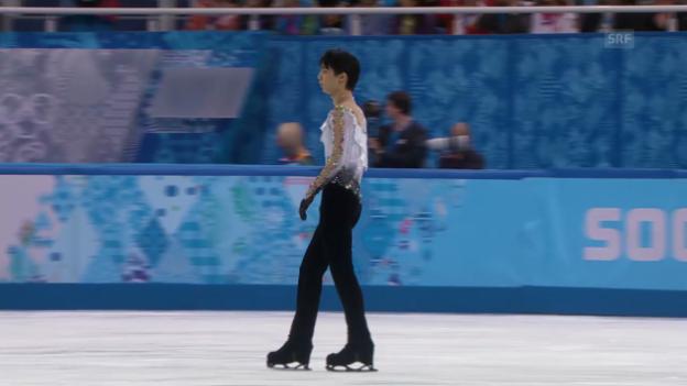 Video «Eiskunstlauf, Männer: Kür von Yuzuru Hanyu (sotschi direkt, 14.2.2014)» abspielen