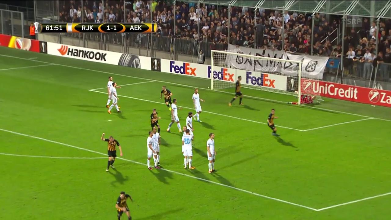 Rijeka verliert gegen Athen