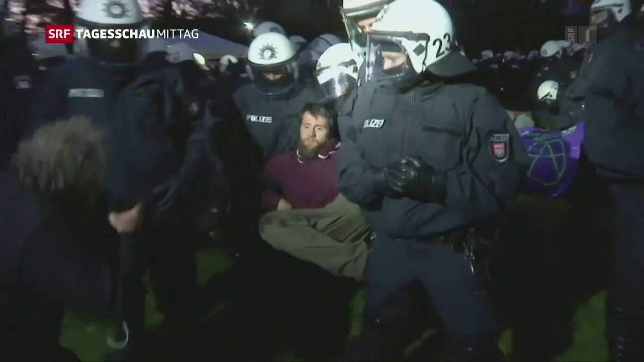 Protestcamp wird geräumt