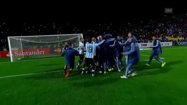 Video «Fussball: Copa America, Viertelfinal, Argentinien - Kolumbien» abspielen