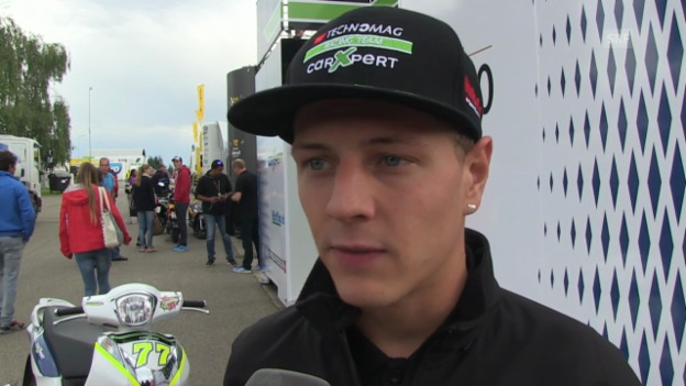 Video «Moto2: Dominique Aegerter spricht über seine Zukunft» abspielen