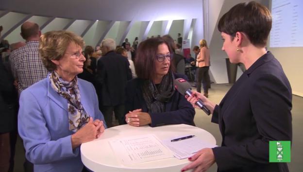 Video «Margrith Kessler (GLP) und Yvonne Gilli (Grüne) im Interview» abspielen