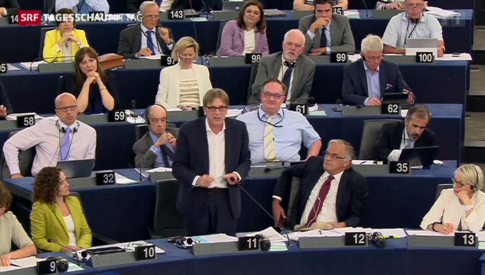 Turbulente Griechenland-Debatte im EU-Parlament