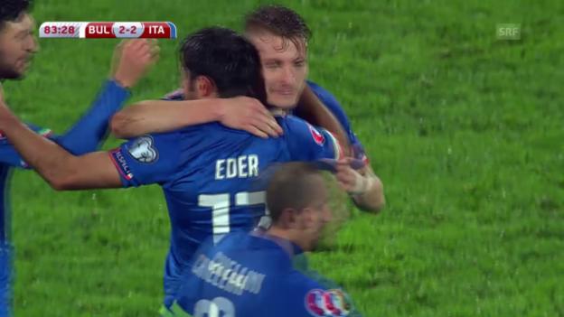Video «Fussball: EM-Quali, Bulgarien-Italien» abspielen